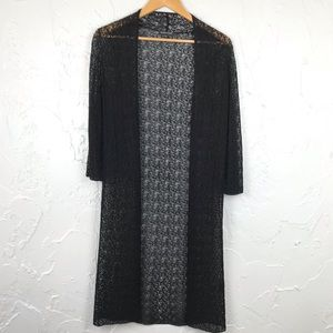 Eileen Fisher Crochet Duster Cardigan